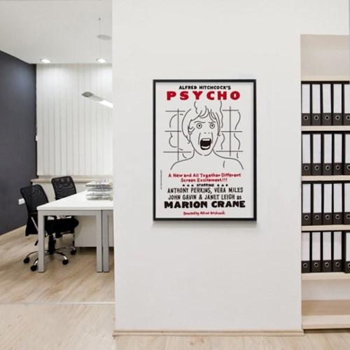 싸이코 영화 M 유니크 인테리어 디자인 포스터