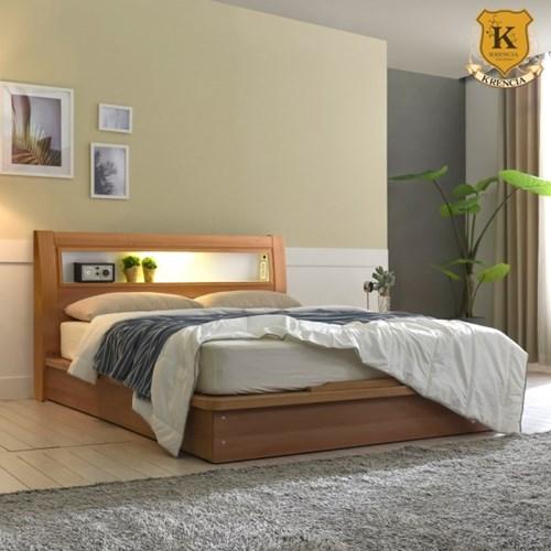 방수커버증정 라이 LED 40T 평상형 침대프레임 SS+독립CL40T매트