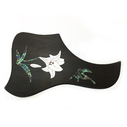 [에보니픽가드]통기타 픽가드-넝쿨,백합나비,단풍잎,봉황,포도넝쿨