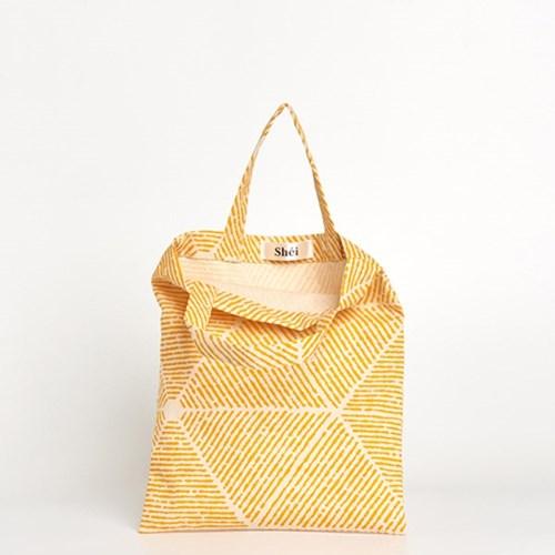 패턴 미니 에코백 - pattern yellow