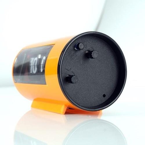 인테리어 저소음 플립 원형 알람 탁상시계 GC002_OR