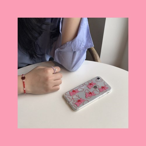 [뮤즈무드] heart happy (clear) 아이폰케이스