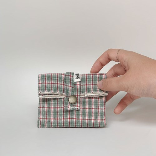 baby pocket - blue check