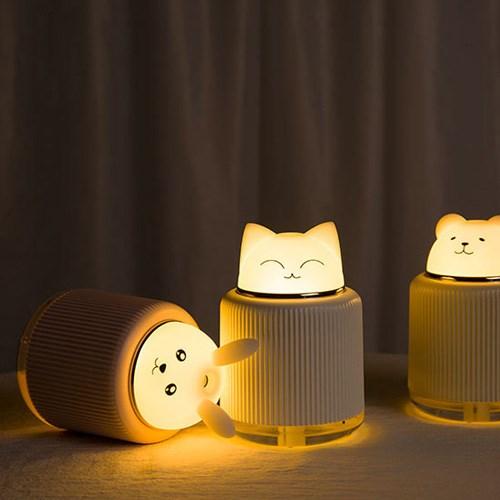 귀여운 애니멀캐릭터 LED 무드등가습기