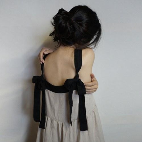 린넨 티얼드 드레스 : Linen tiered dress
