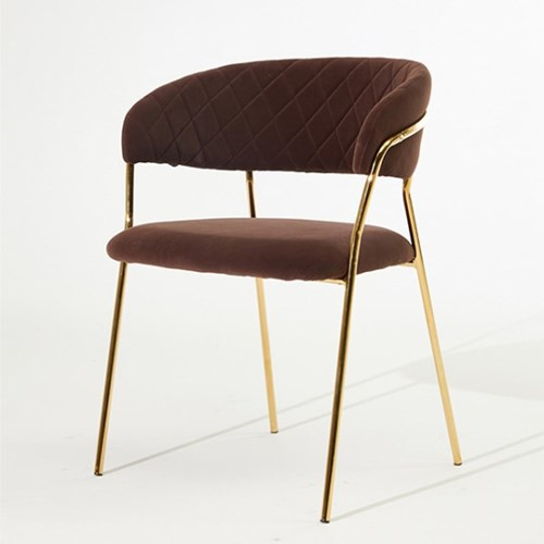 루비체어 인테리어 디자인 골드 카페 의자