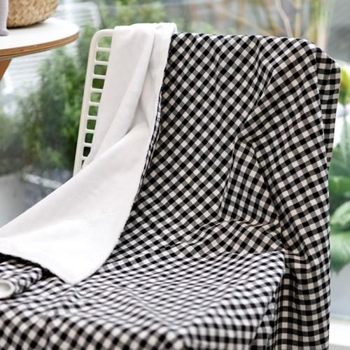 꿈두부 체크패턴 4종 겨울 극세사 아기 블랭킷 담요