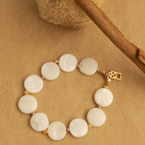 white almond bracelet