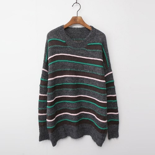 Wool Stripe Oversized Sweater