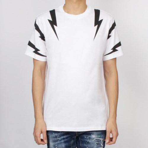 19FW 닐바렛 타이거 볼트 프린팅 티셔츠 (화이트) BJT553S M508S 526