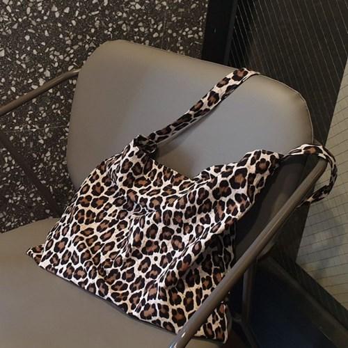 Linen reopard bag_치치브라운