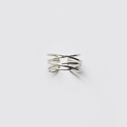 (92.5 silver) multiple lines ring