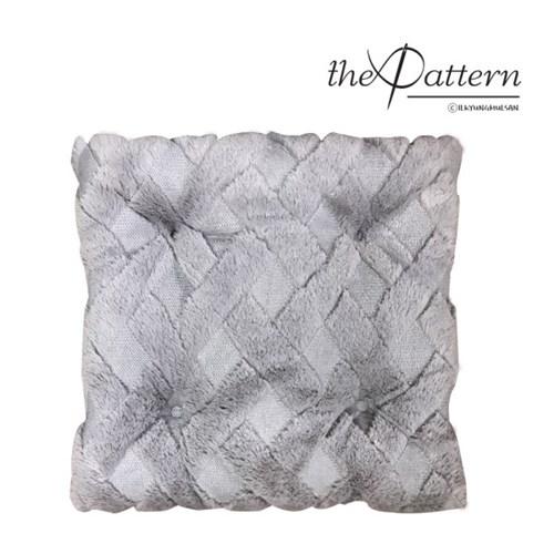 the Pattern 그레이누빔방석