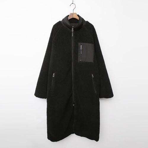 Sherpa Reversible Fleece Zip Long Jumper - 양면