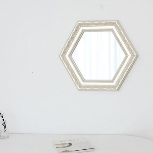 육각 750실버 벽거울
