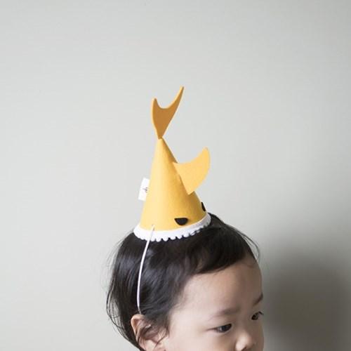 자유문구 상어 고깔모자 파티햇(6컬러 자유문구가능)