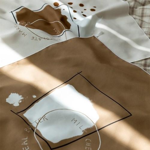 밀크라떼 자체제작 패브릭포스터 60x70cm 작은창커튼