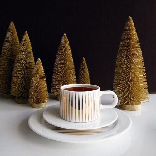 아사셀렉션 데코 테이블 전나무트리 크리스마스트리 골드 중 h21