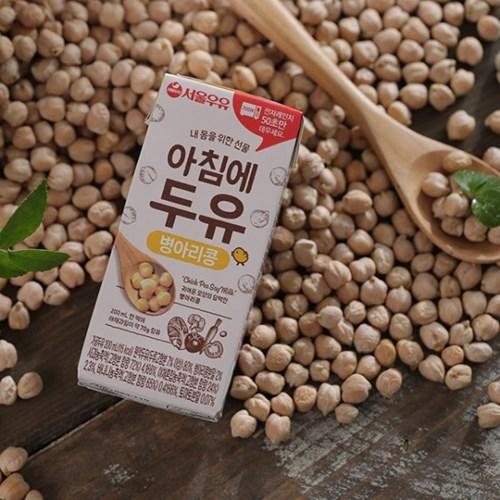 [서울우유] 아침에두유 병아리콩 전자레인지팩 1박스(200ml * 24팩)