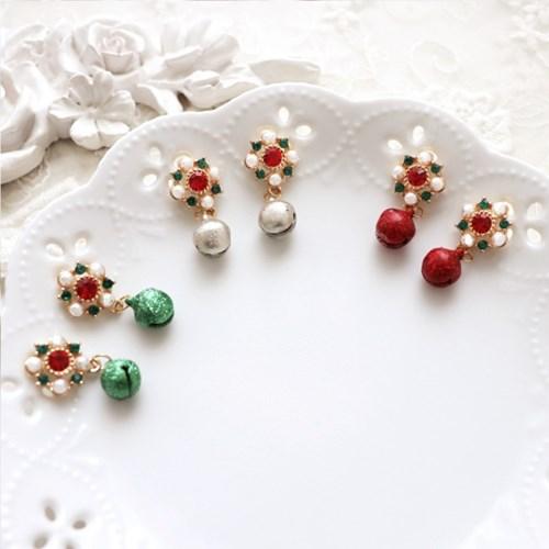 [우아한 공방] 포인세티아 벨 귀걸이