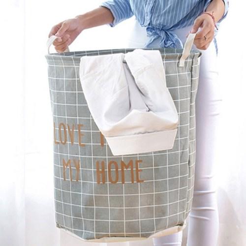 빨래바구니 북유럽풍 패브릭 빨래통 이동식 세탁 바구니