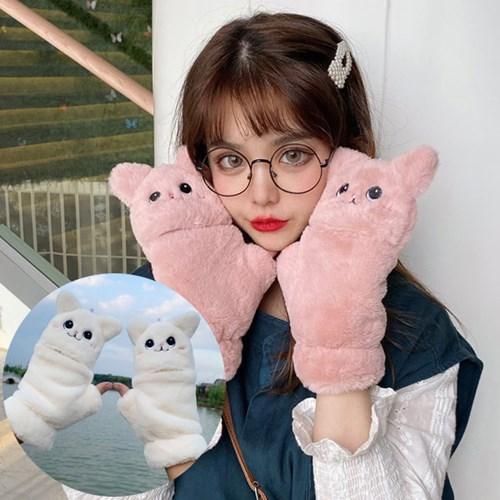 로키 고양이 벙어리 겨울 털장갑_(2300625)