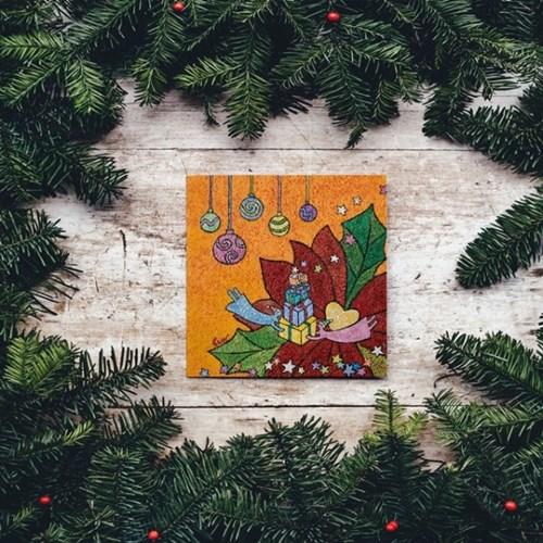 캘리엠 축복의 선물2 XKSO 캘리그라피 크리스마스카드