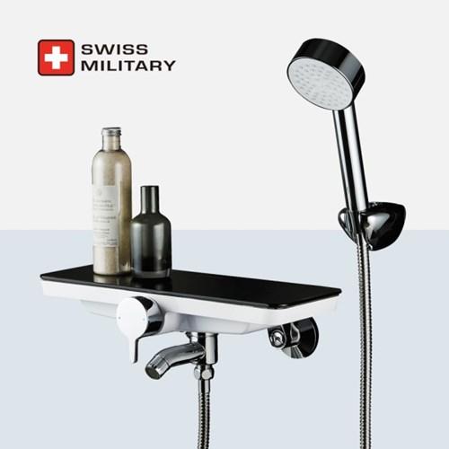 스위스밀리터리 강화 선반형 샤워 욕조 수전 (샤워헤드 거치 일체형)