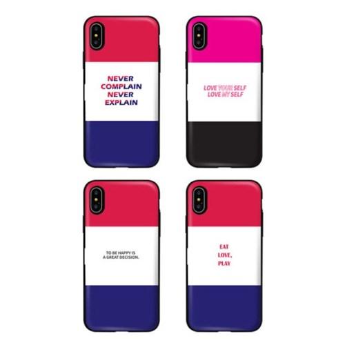 아이폰11프로맥스 TCB-삼색타이포 카드 범퍼 케이스_(2521690)