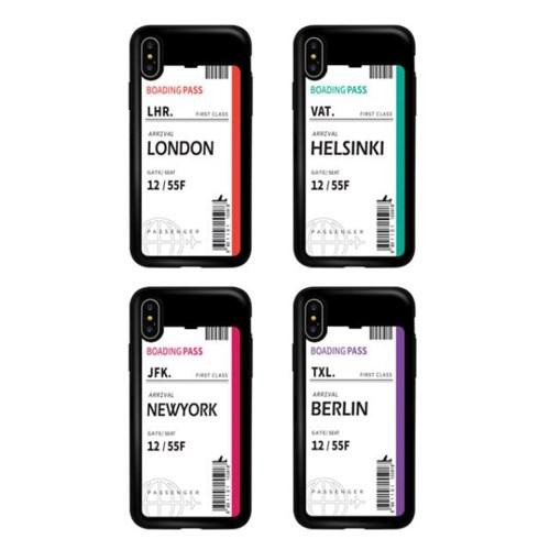 아이폰11프로 TCB-에어플레인티켓 카드 범퍼 케이스_(2521678)