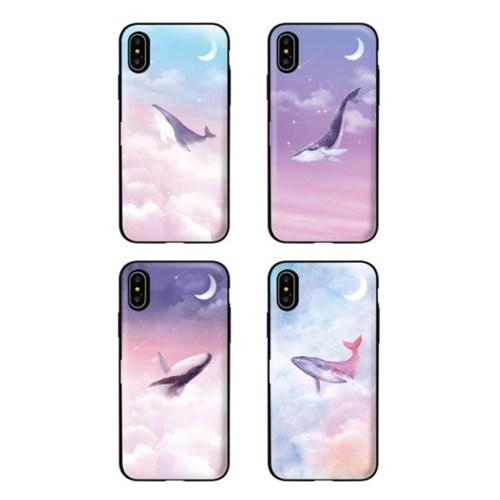 아이폰8 TCB-달빛고래 카드 범퍼 케이스_(2521625)