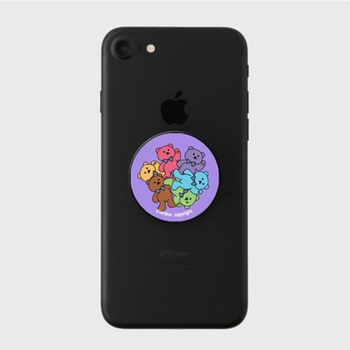 Color bear - purple(스마트톡)