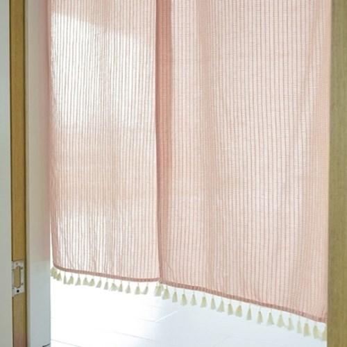 사계절 바란스 가리개 테슬 커튼 3color