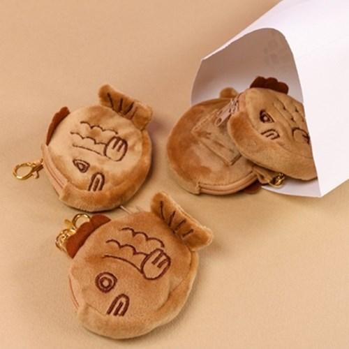 갓샵 붕어빵 동전지갑 키링 [에어팟 케이스 파우치 가방고리 인형]