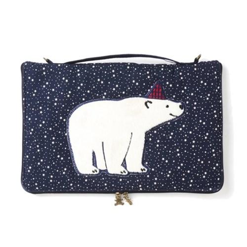 촘촘 북극곰 노트북 파우치