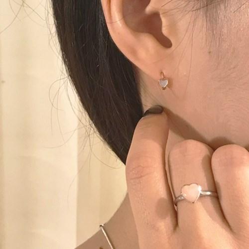 [하트 원터치 귀걸이] 로잘리 이어링
