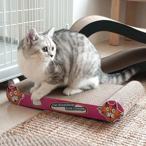 아이리스 골판지 고양이 스크래쳐 캣닢증정 QQ50141