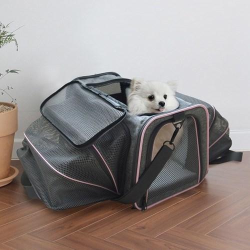 아이리스 확장 강아지/고양이 가방 매쉬 DCC1800D1 소형 중형