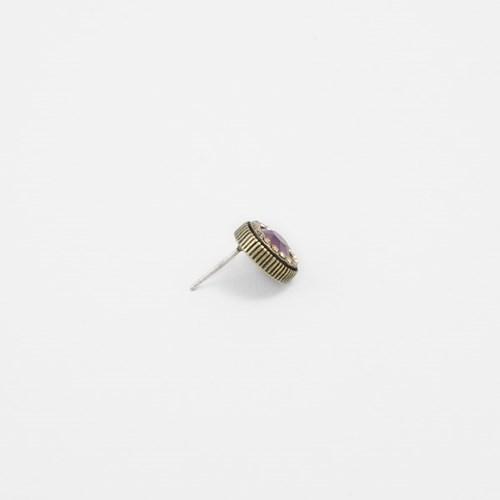 [쥬디앤폴] 유고 루비 크리스탈 파베세팅 귀걸이 E50601