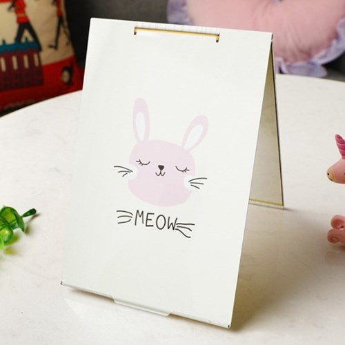 모던 토끼 접이식 탁상거울/ 사각 손거울