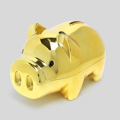골드 팬시 돼지저금통(올금장) (대) / 잔돈저금통