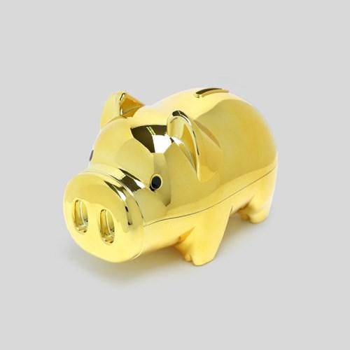 골드 팬시 돼지저금통(올금장) (중) / 잔돈저금통
