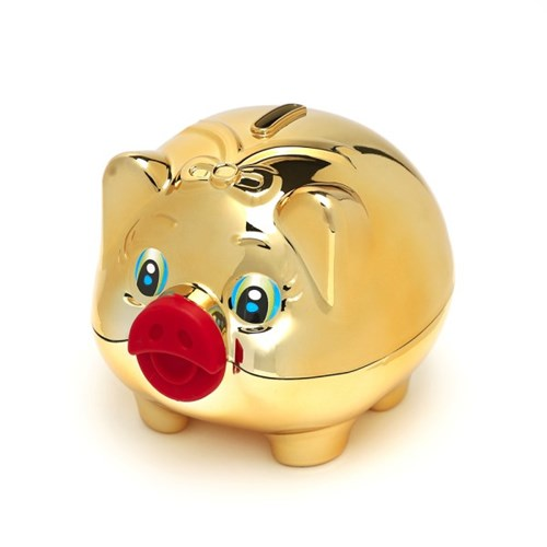 큐티 골드 돼지 저금통(대)/판촉사은품 복돼지 저금통
