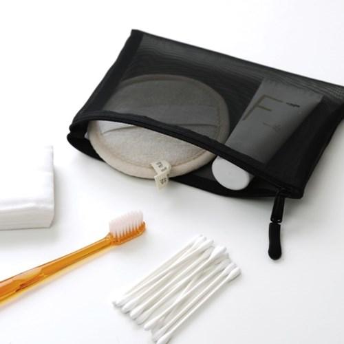 단순생활 메쉬 화장품 파우치 세트 블랙