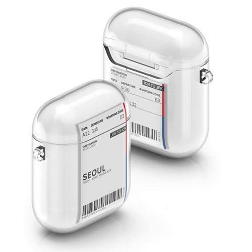 PLAN.A 에어플레인 티켓 시리즈 에어팟 1/2세대 TPU 투명 케이스