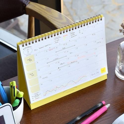 Color Days Calendar (프레스 라인이 있는 만년 달력)