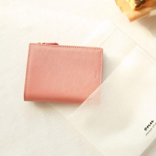[탄생화키링+반지갑세트]Bless you half wallet(pink)
