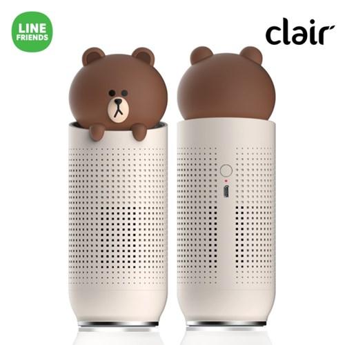 클레어 라인프렌즈 브라운&샐리 차량용 공기청정기 1+1 세트 (CAP-BF