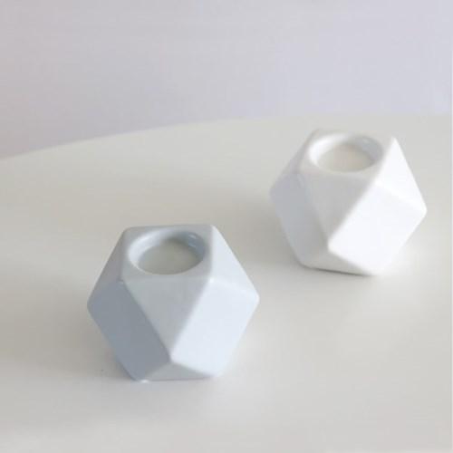 큐브 세라믹 촛대 도자기 티라이트 홀더
