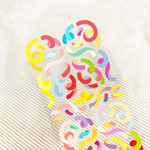 [스튜디오 퐁듀] ribbon confetti 리본컨페티 씰스티커